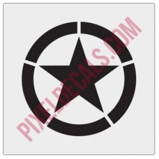 Military Invasion Star Decal - WWII Alternate