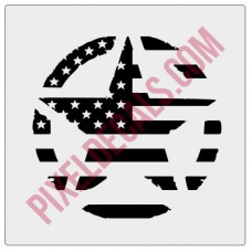 American Flag Invasion Star Decal - Distressed
