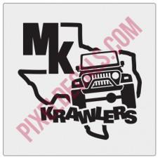 MK Krawlers Fender Decal