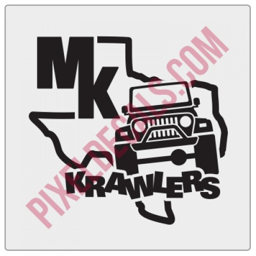 MK Krawlers Fender Decal
