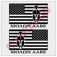 Molon Labe American Flag Decals - 1 Color