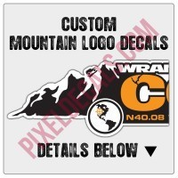 Custom Mountain Logo Decals