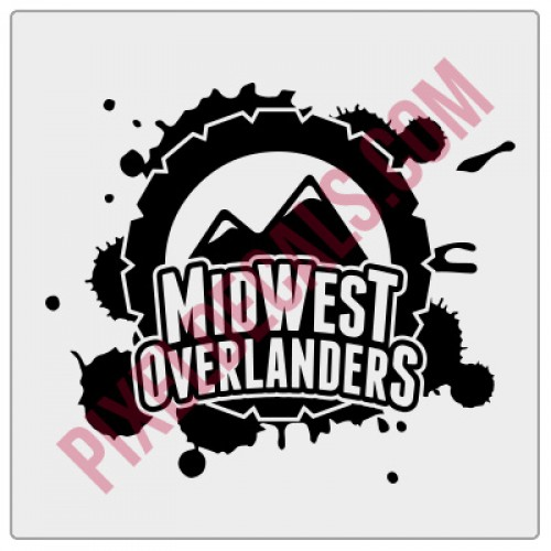 Midwest Overlanders 1-Color Decal