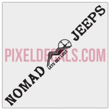 Nomad Jps Windshield Banner Decal - 1 Color