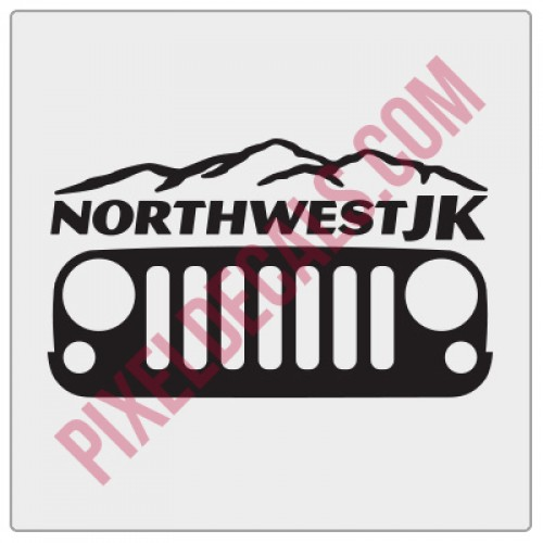 Northwest JK Grille Decal