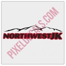 Northwest JK 2-Color Text w/Mountain
