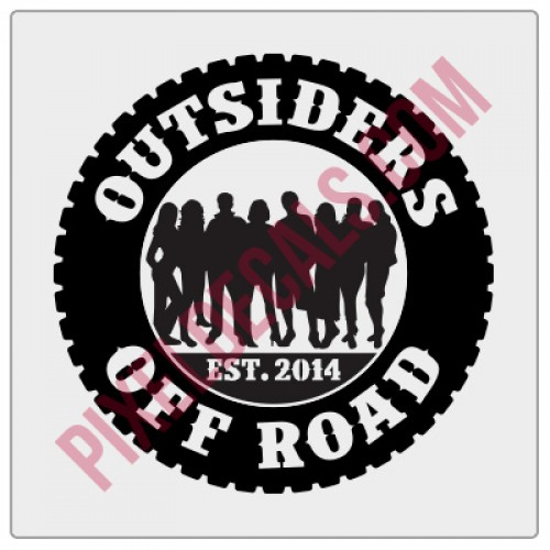 Outsiders Off Road Round Decal