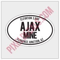Trail Oval Decal - AZ - Ajax Mine