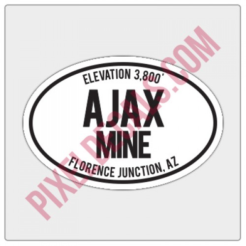 Trail Oval Decal - AZ - Ajax Mine