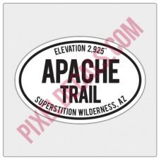 Trail Oval Decal - AZ - Apache Trail