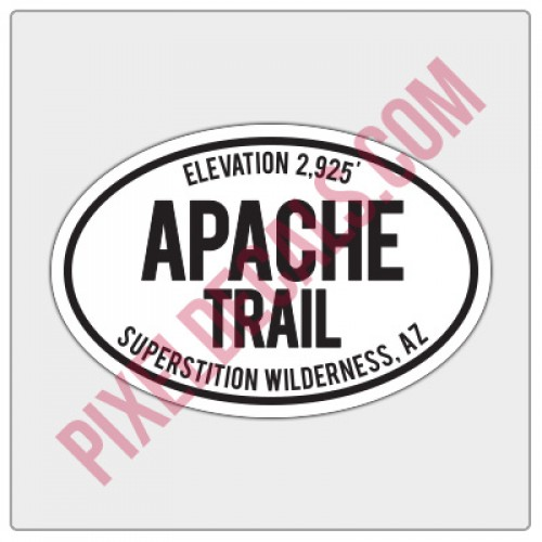 Trail Oval Decal - AZ - Apache Trail