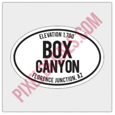 Trail Oval Decal - AZ - Box Canyon