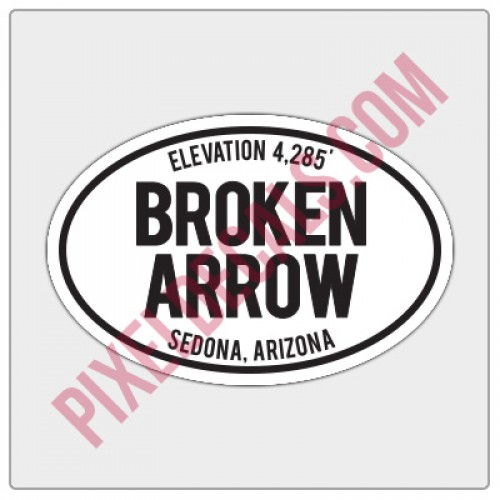 Trail Oval Decal - AZ - Broken Arrow