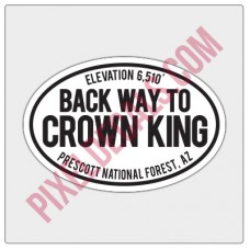 Trail Oval Decal - AZ - Back Way to Crown King