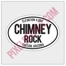 Trail Oval Decal - AZ - Chimney Rock