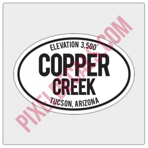 Trail Oval Decal - AZ - Copper Creek
