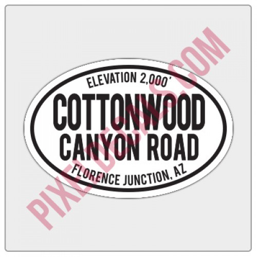 Trail Oval Decal - AZ - Cottonwood Canyon Road