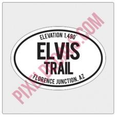Trail Oval Decal - AZ - Elvis Trail