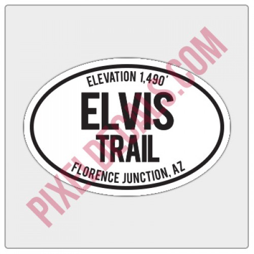 Trail Oval Decal - AZ - Elvis Trail