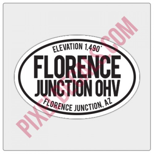 Trail Oval Decal - AZ - Florence Junction OHV