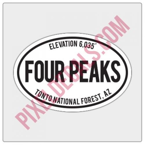 Trail Oval Decal - AZ - Four Peaks