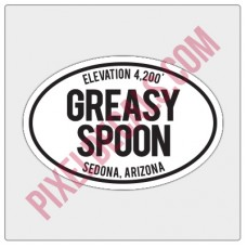 Trail Oval Decal - AZ - Greasy Spoon