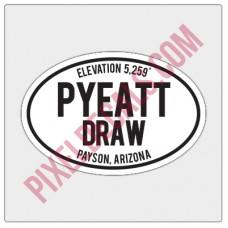 Trail Oval Decal - AZ - Pyeatt Draw