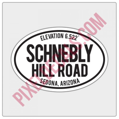 Trail Oval Decal - AZ - Schnebly Hill