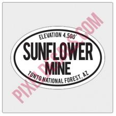 Trail Oval Decal - AZ - Sunflower Mine