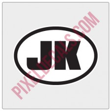 Oval 2 Letter Decal - Customizable