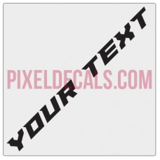 "Customizable ""Paladin"" Hood Lettering Decals (Pair)"