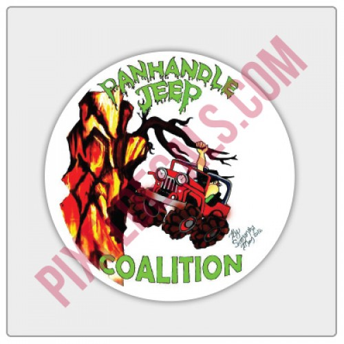 Panhandle Jp Coalition Round Decal