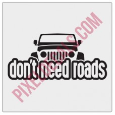 Peek-a-boo Don't Need Roads Decal