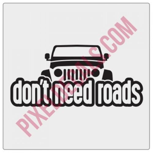 Peek-a-boo Don't Need Roads Decal