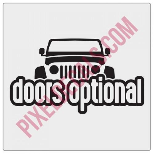 Peek-a-boo Doors Optional Decal