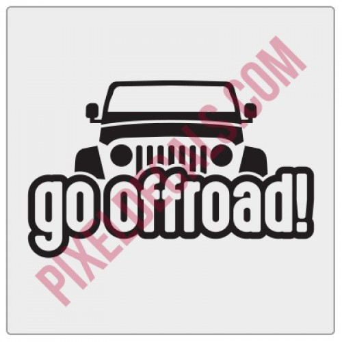 Peek-a-boo Go Offroad! Decal