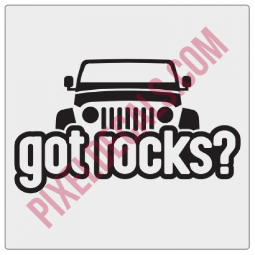 Peek-a-boo Got Rocks? Decal