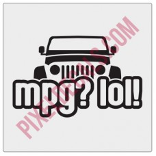 Peek-a-boo MPG? LOL! Decal