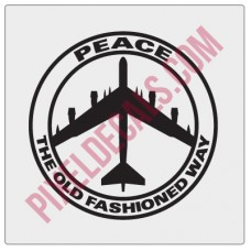 Peace The Old Fashioned Way Decal