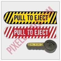2007-2018 JK Pull To Eject Decal (For Seat Height Lever)