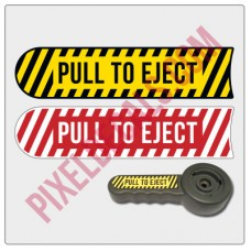 JK Pull To Eject Decal (For Seat Height Lever)