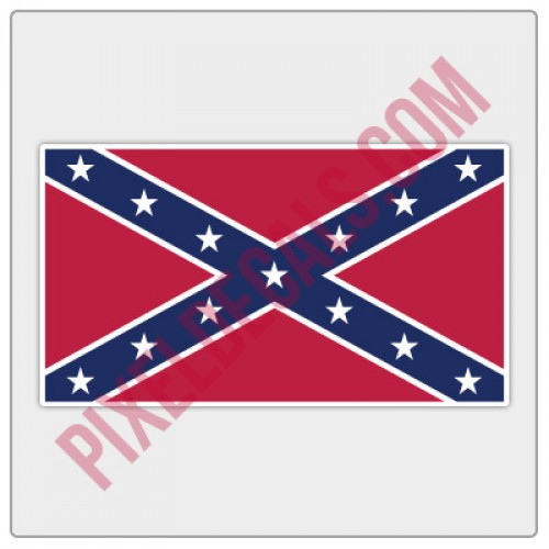 Rebel Flag Decal - Color