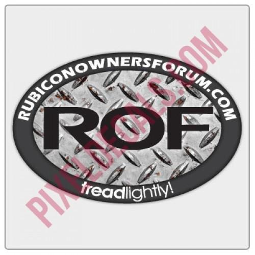 ROF Diamond Plate Decal