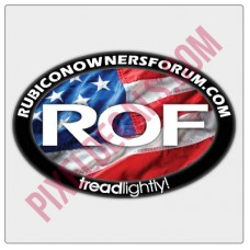 ROF American Flag Decal