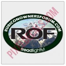 ROF Mountain Decal