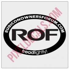 ROF Classic Oval Decal