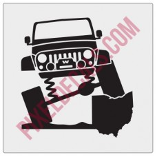 Rock and Roll City Offroad JK Fender Decal