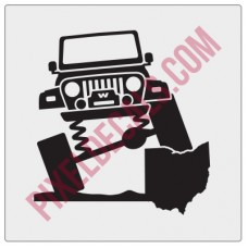 Rock and Roll City Offroad TJ Fender Decal