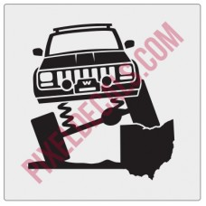 Rock and Roll City Offroad XJ Fender Decal