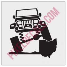 Rock and Roll City Offroad YJ Fender Decal